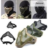 Masker Pelindung Setengah Wajah Bahan Besi Mesh untuk Outdoor