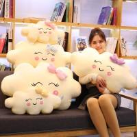 Boneka Bantal Bentuk Awan Bahan Plush untuk Hadiah Natal