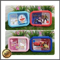 Lunch Box Kotak Makan Sekat 2 Doraemon Avengers Hello Kitty Cars