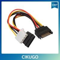 Female Kugo Kabel Power SATA 15 Pin Male to 4Pin IDE Molex