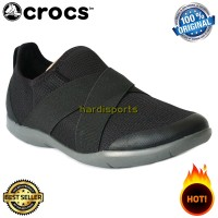 Sepatu Sneaker Crocs Swiftwater Cross Strap 204887-001 - Blck ORIGINAL