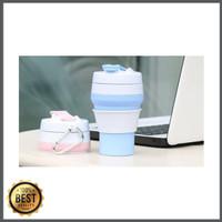 [M814] COLLAPSIBLE FOLDABLE COFFEE CUP/ GELAS LIPAT SILIKON 350mL