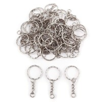 50x Ring 25mm for keyring keychain 30mm silver metal jewelry DIY