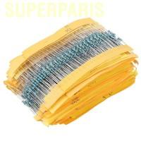 Superparis 2000Pcs 1 / 4W 100 Values Resistor Film Metal 1 ohm ~ 1M