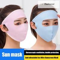 Panas 5Pcs Masker Pelindung Matahari Ultra Tipis untuk Outdoor /