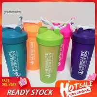 ❋CF❋600-700ml Portable Protein Shake Shaker Bottle Metal Wire
