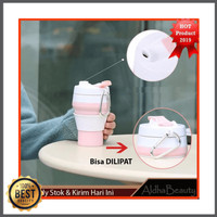 Collapsible Silicone Foldable Coffee Cup 350ML Leak Proof M814 Botol