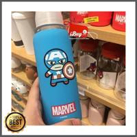Miniso Captain America Botol Minum Rubber Case Soft Baby Skin Blue