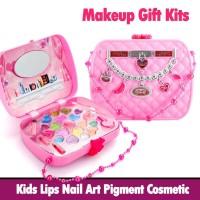 Gift Kits Kids Lips Nail Art Pigment Cosmetic Pretend Play Toys