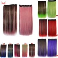 Women Hair Extensions Colorful Straight Long High Tempreture