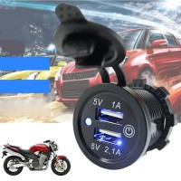 USB Blue LED Charger Replacement Parts 3.1A 5V Accessories Car Truck