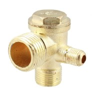 "2/5""3/8""PT 1/2""PT Male Thread 3 Way Metal Air Compressor Check Valve"