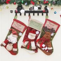 Dekorasi Natal Kantong Hadiah Gantung Bentuk Kaos Kaki Santa untuk