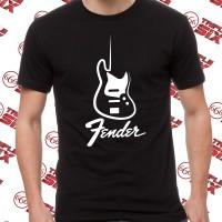 Kaos Tshirt Fender Guitar Electric