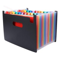 24 Pockets Expanding File Large Space Design A4 Filing Folders Box