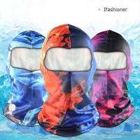 / Outdoor Masker Full Face Tactical Pria / Wanita untuk Ski / Sepeda