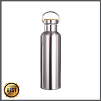 4LessWaste Double Wall Drink Bottle - Brushed Stainless 750ml