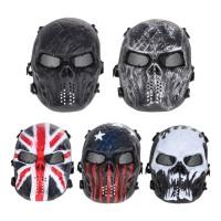 Masker Full Face Motif Tengkorak untuk Airsoft / Paintball / Outdoor