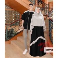 couple syari sarwendah hitam baju muslim pasangan gamis kemeja wen at