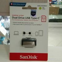 FLASHDISK OTG SANDISK DUAL DRIVE USB 3.1 TYPE-C 64GB