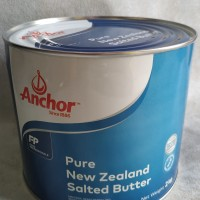 Anchor Pure New Zealand Tin Butter 2 Kg / Mentega Anchor Kaleng 2 Kg