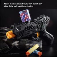 Mainan Pistol anak Soft Bullet Mirip Nerf Soft Bullet Gun Jelly Ball