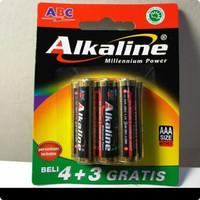 Baterai ABC ALKALINE AA / AAA -7PCS BATERAI ISI 4+3