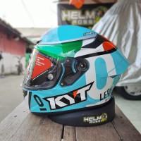 KYT TT COURSE - Dalla Porta Leopard flat visor top ready pinlock