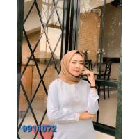 FAME Fashion Gamis 9911072 Putih