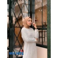 FAME Fashion Gamis 9911073 Putih