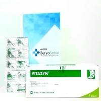Vitazym 1 strip isi 10 tablet - Enzim Pencernaan