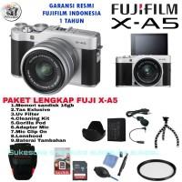 Fujifilm X-A5 Fuji XA5 Kit 15-45mm OIS PAKET LENGKAP