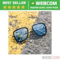 Kacamata Tony Stark Steampunk HD Polarized Sunglasses Harmful UV