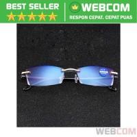 Kacamata Baca Frameless Blue Film Reading Glasses Plus 1 Presbyopia