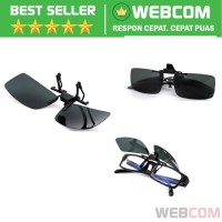 Lensa Jepit Kacamata Day Vision for Night Drivin Polarized Safe Drive