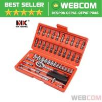 Obeng Set Reparasi Service Mobil 46in1 Repair Set Screwdriver Lengkap