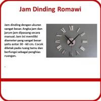 Jam Dinding Giant Wall Clock Quartz Romawi Design 30 60cm 05 Silver