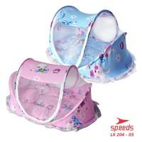 Tempat Tidur Bayi Murah Motif Peralatan Ranjang Anak Baru Lahir 204-05 - Merah Muda