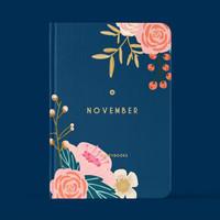 Notebook Custom Buddybooks Custom Buku Jurnal Floral Planner FRAME 20 - Size A6