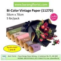 Bi-Color Vantage Paper (1127D) 5 lbr/pack, aksesoris bunga, kertas