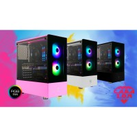 CASING CUBE GAMING CABAZON - ATX - FREE 2 PCS RAINBOW RGB FAN TEMPERED
