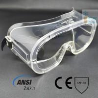 Goggle Safety Anti Fog Standard ANSI Clear Lens Tanpa Ventilasi