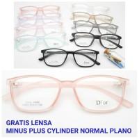 PAKET MURAH Frame Kacamata Minus Wanita 72083 + LENSA Anti Radiasi