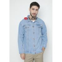 Basalt Jacket Jeans Pria-Blue Light