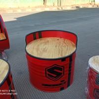 bangku drum single dudukan kayu