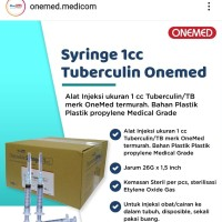 Disposable syringe spuit 1 cc onemed Jarum / jarung suntik /Syringe