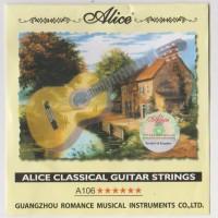 1 Set Senar Gitar Classic/ Nilon / Nylon Classical Guitar Alice A106-H