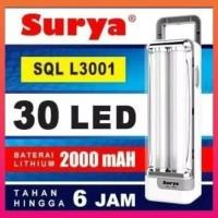 EMERGENCY LED SURYA SQL L 3001,LAMPU DARURAT,LAMPU LED ISI ULANG