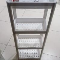 Rak 4 tingkat plastik warna putih portable