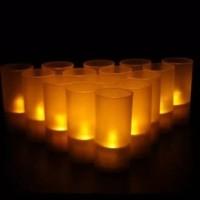 Lilin LED Gelas Lilin Electric